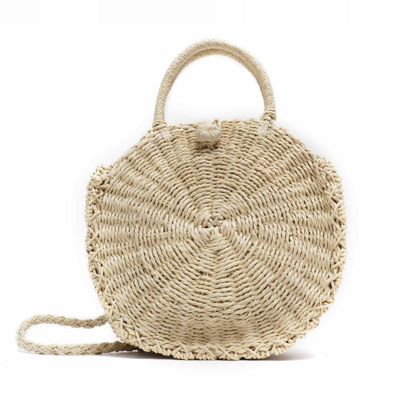 How market circle straw bag premium