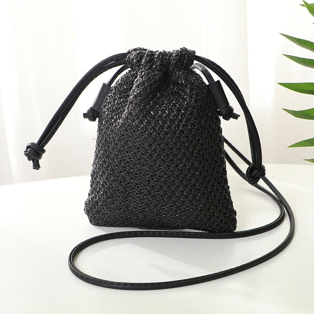 Round straw crossbody bags in bali premium
