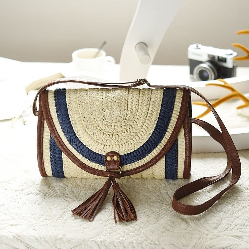 Large straw bags collection