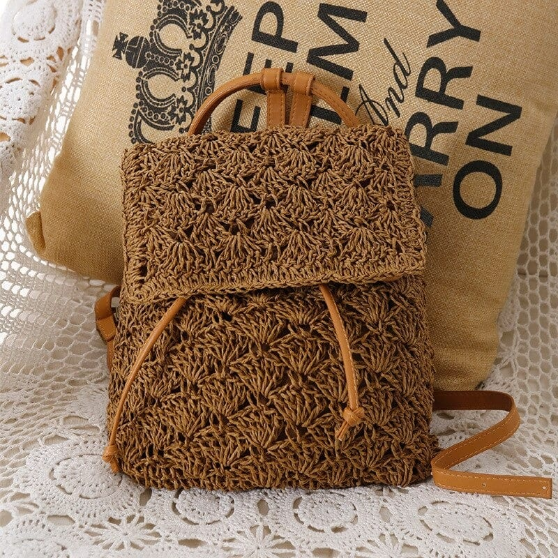 Which native woven backpack