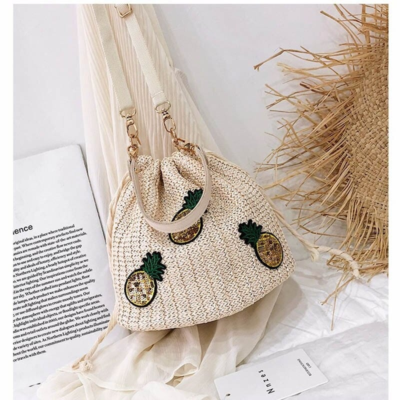 Where round straw crossbody bag with flowers value