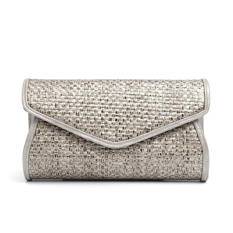 What party woven leather handbag