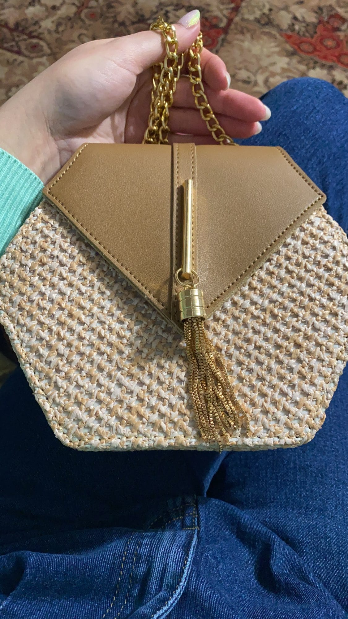 How long straw woven bag large suggest
