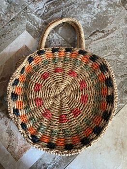 Shoulder Straw Bag for Summer - Round Straw Crossbody Bag – Beach Bags photo review