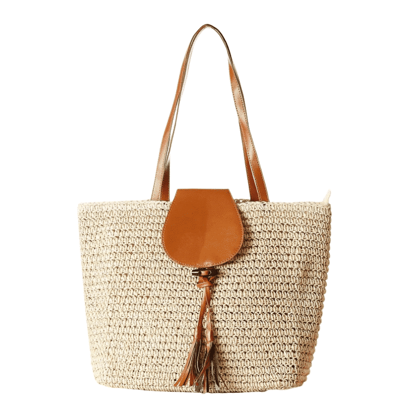 Travel large straw beach bag best