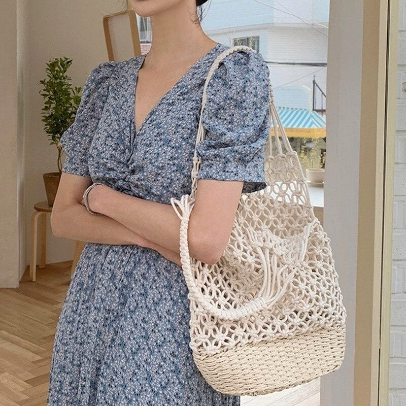 Rattan and straw bags for summer value
