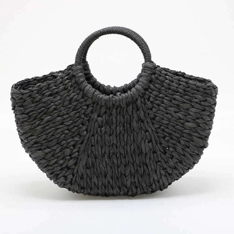 High-end round straw bag