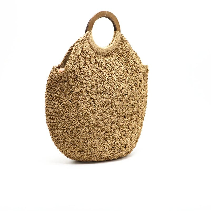 Small wicker beach bag