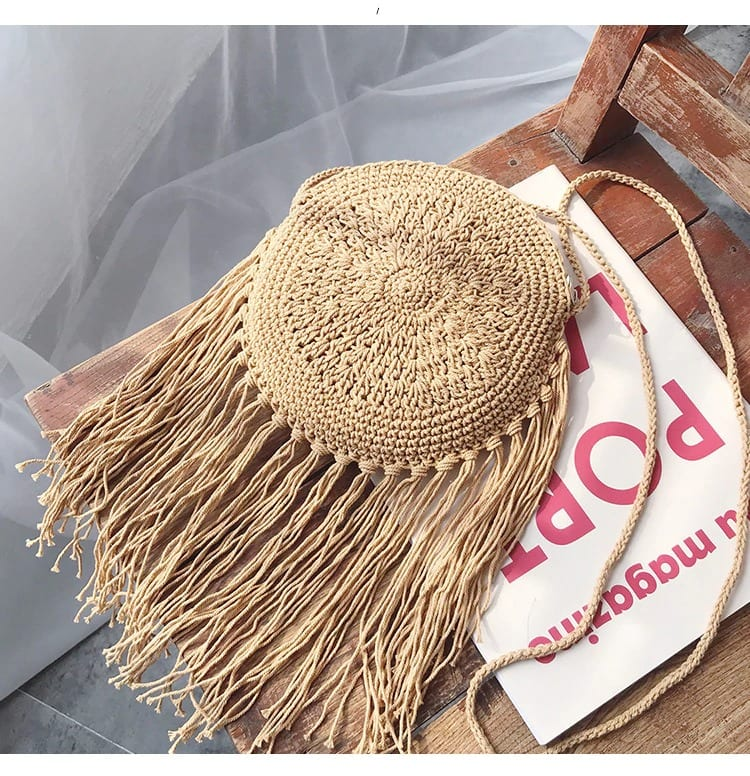 Straw beach bags in bali premium