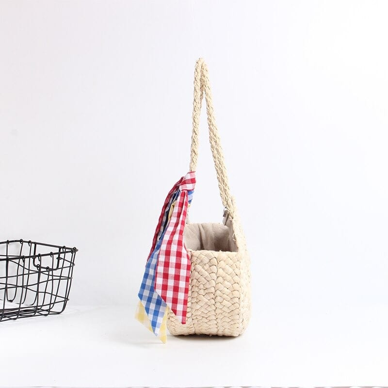 Colorful woven purses