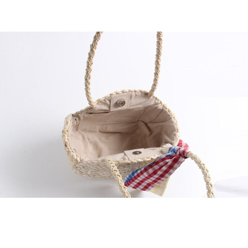 Navy rattan tote bag quality