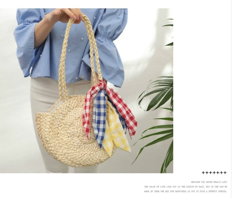 Hard straw and leather handbag recomment