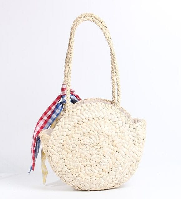 What bahamian straw shoulder bag