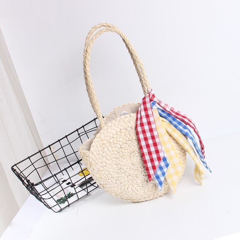 How long holiday round straw crossbody bag suggest