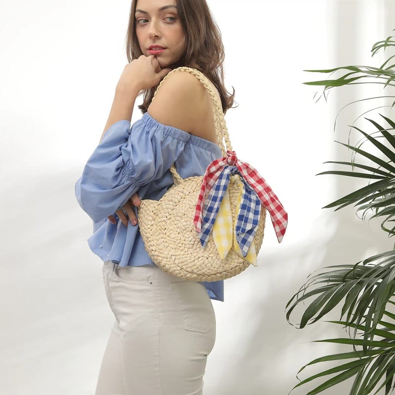 What hard straw crossbody bag