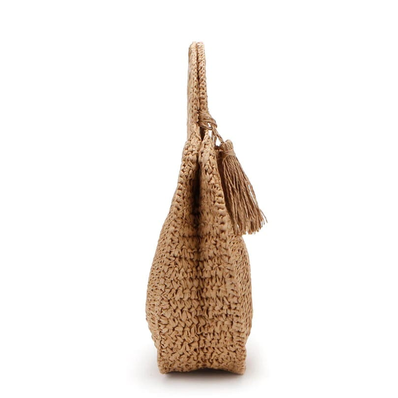 Straw shoulder bags clutch