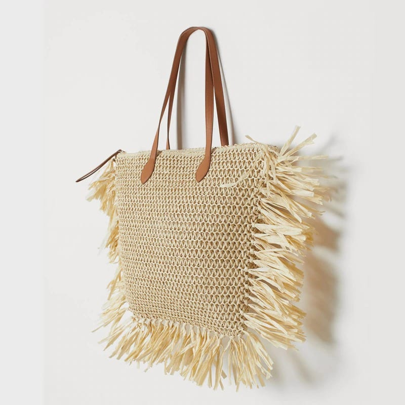 What chain woven bucket bag