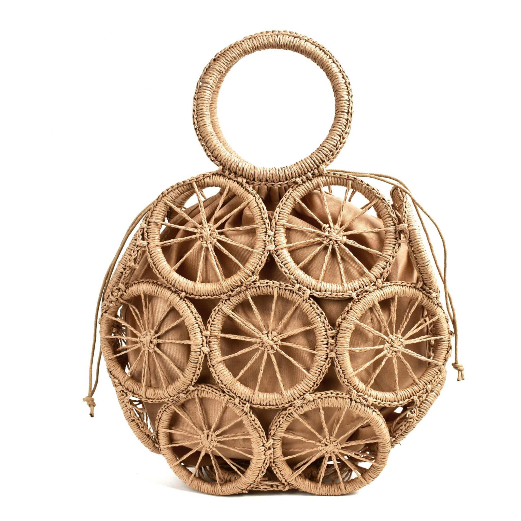 Holiday rattan tote bag better