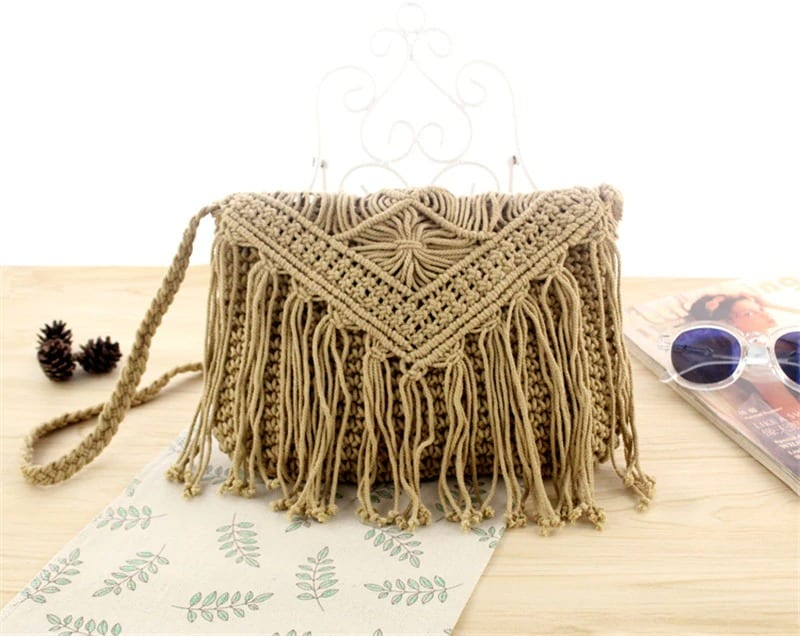 When beige oversized straw beach bag