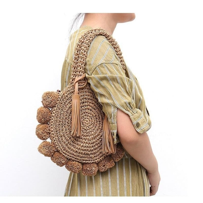 How long holiday rattan clutch suggest