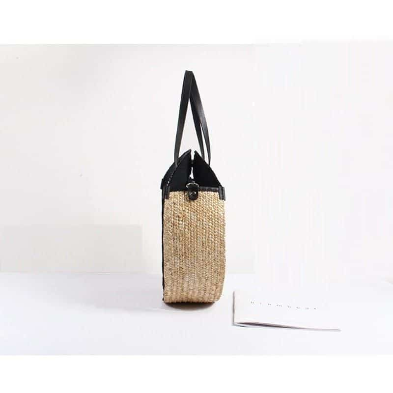 Woven straw beach bag good