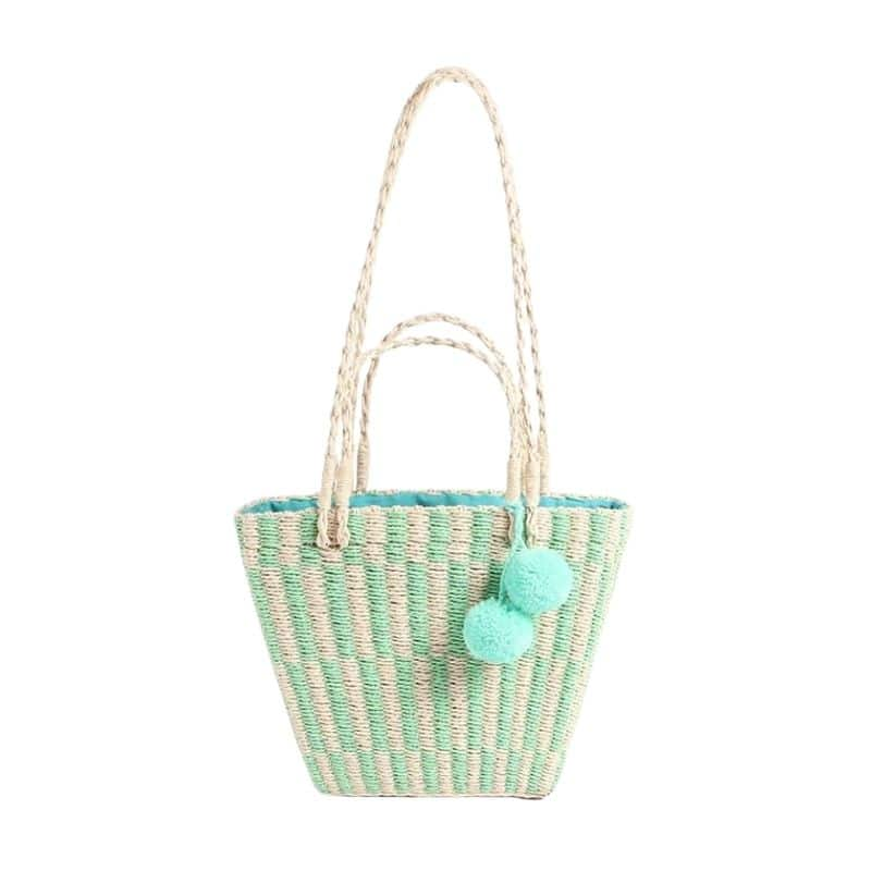 What small woven black straw bags recomment