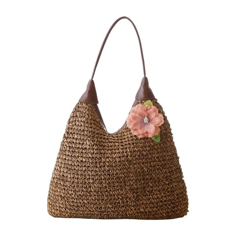 Stripped large straw bag recomment