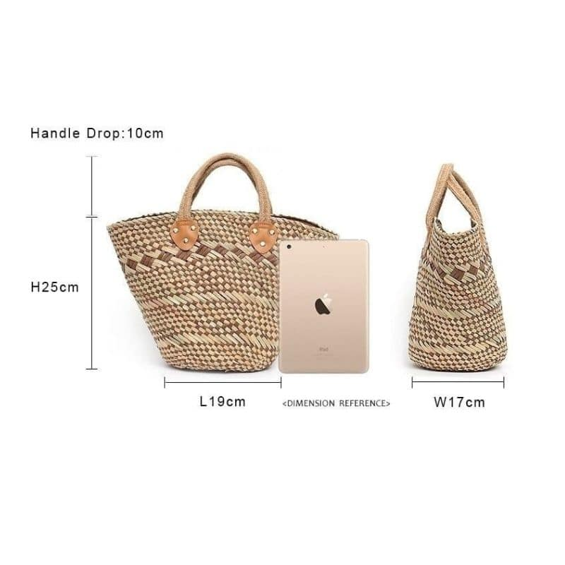 Custom designer straw bag premium