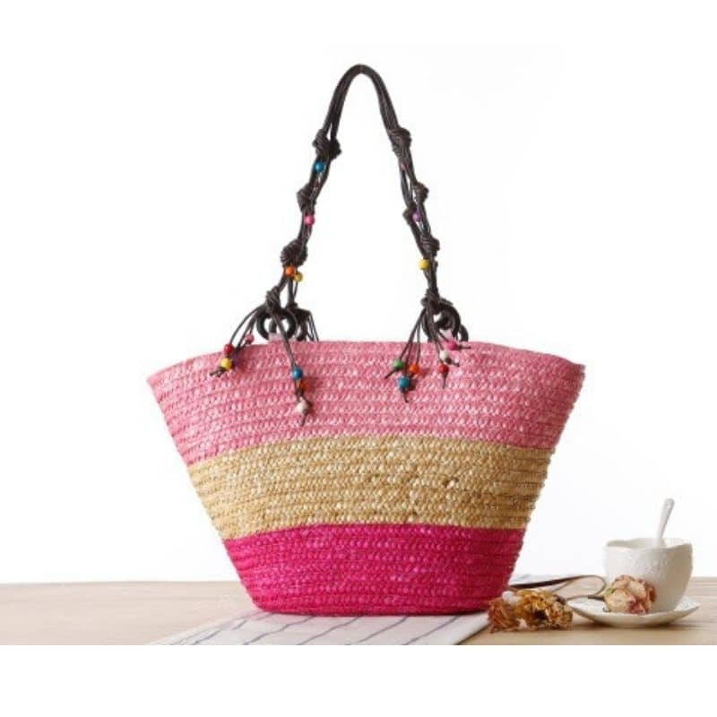 Luxury straw handbag