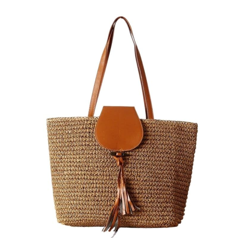 Why casual woven leather bag