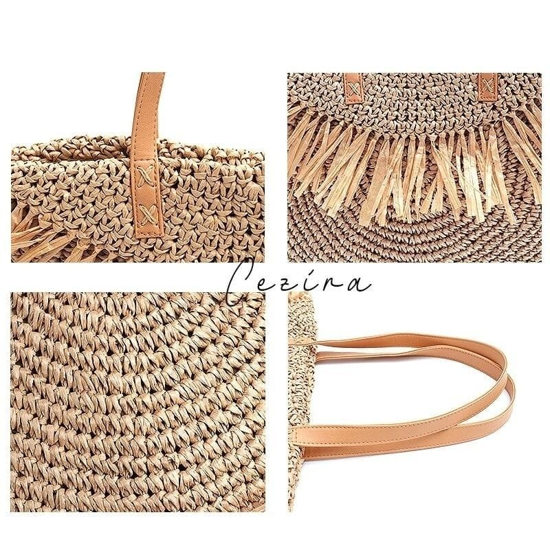 Where beach and vintage straw handbags