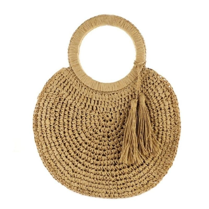 Summer straw handbags beach