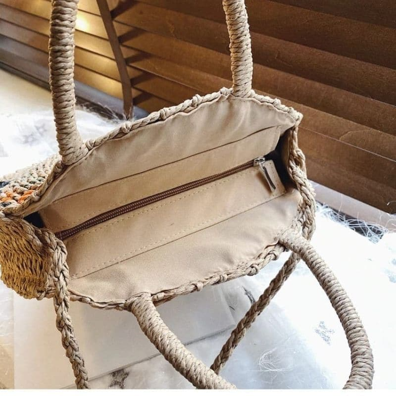 How much quality woven leather tote