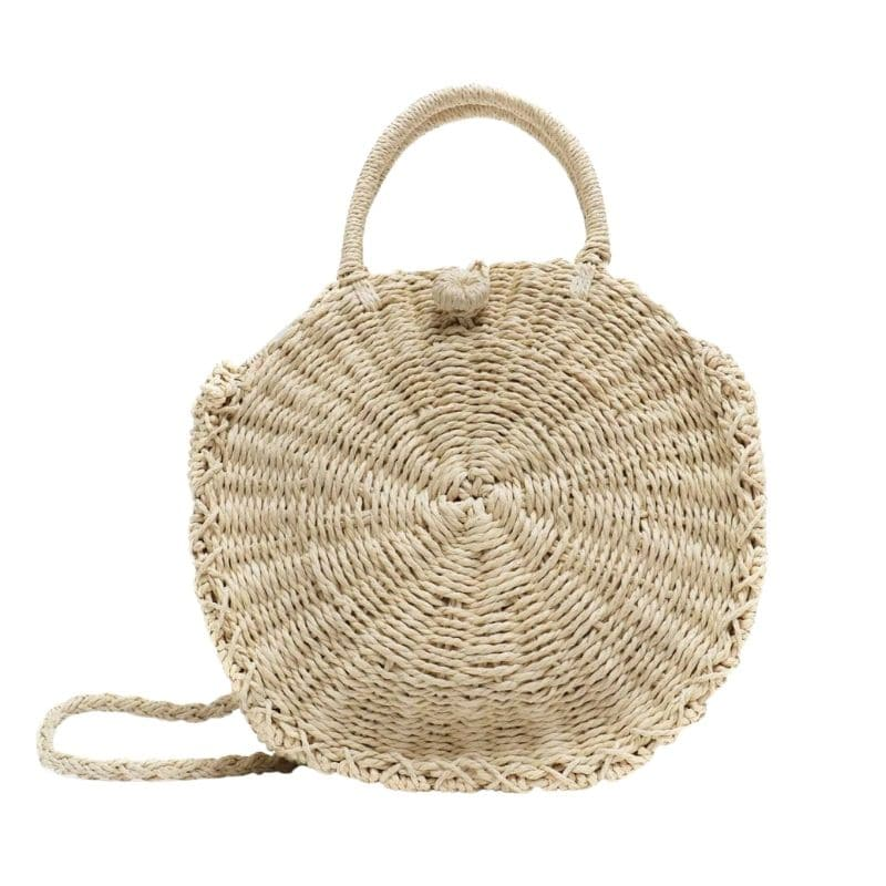 When market summer straw purse premium
