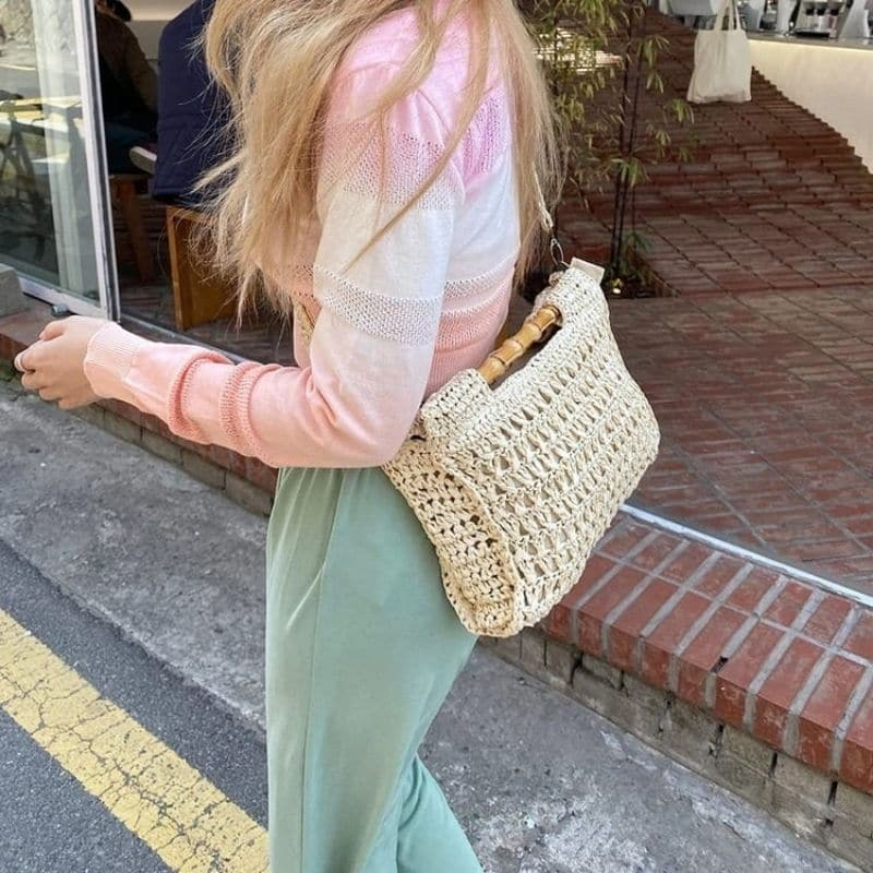 Which custom summer straw handbag best