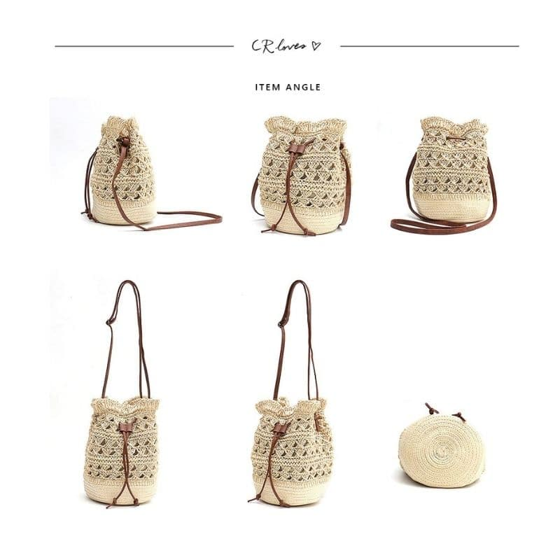 How long straw belt bags online shop