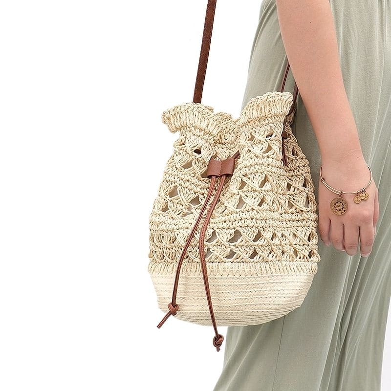 Shoulder straw basket bag value
