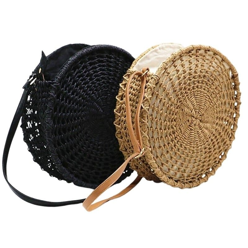 Why khaki straw basket bag