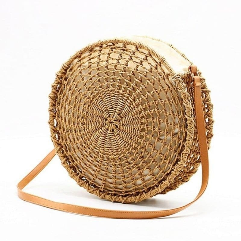 Where basket straw crossbody bag top