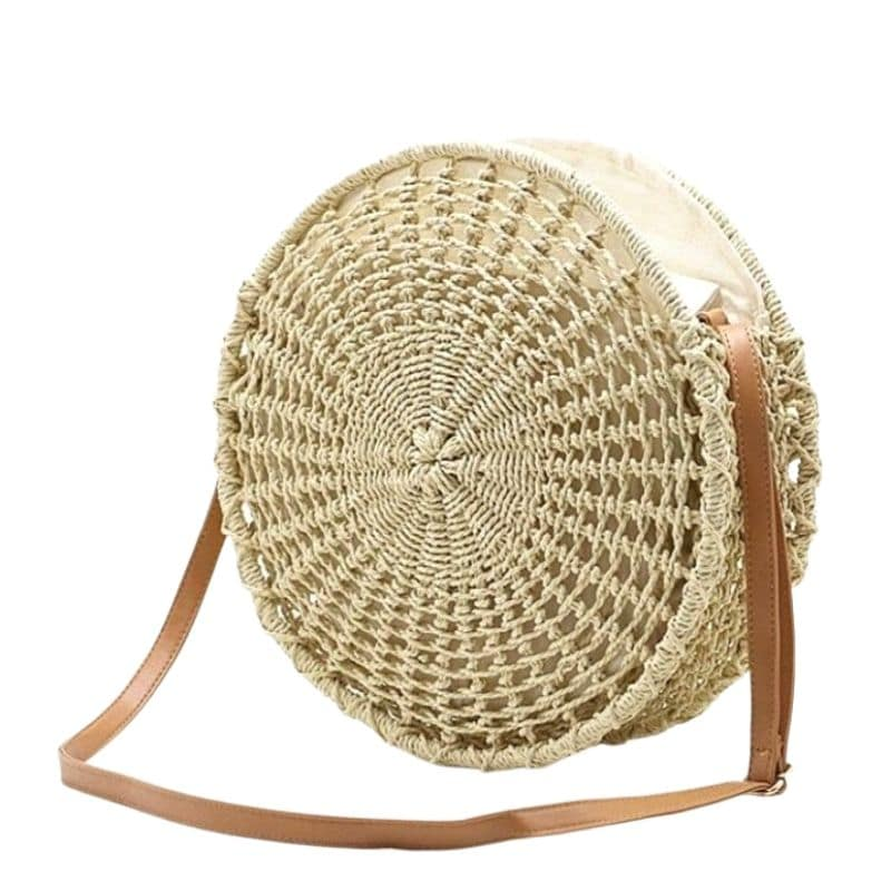 How long straw woven bags made in bali