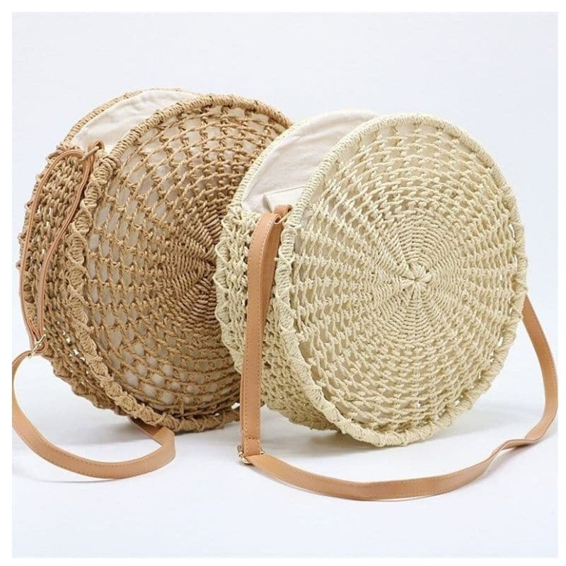 How woven straw hobo bags