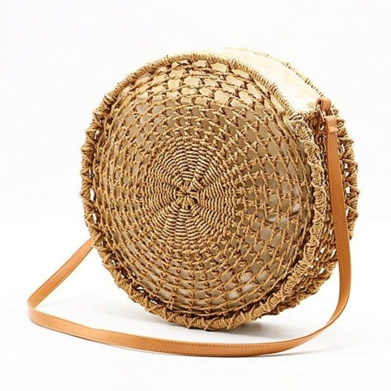 Summer straw purses clutch top