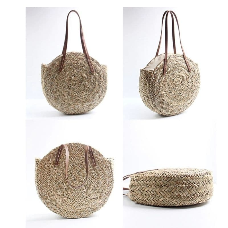 How market straw clutch bag