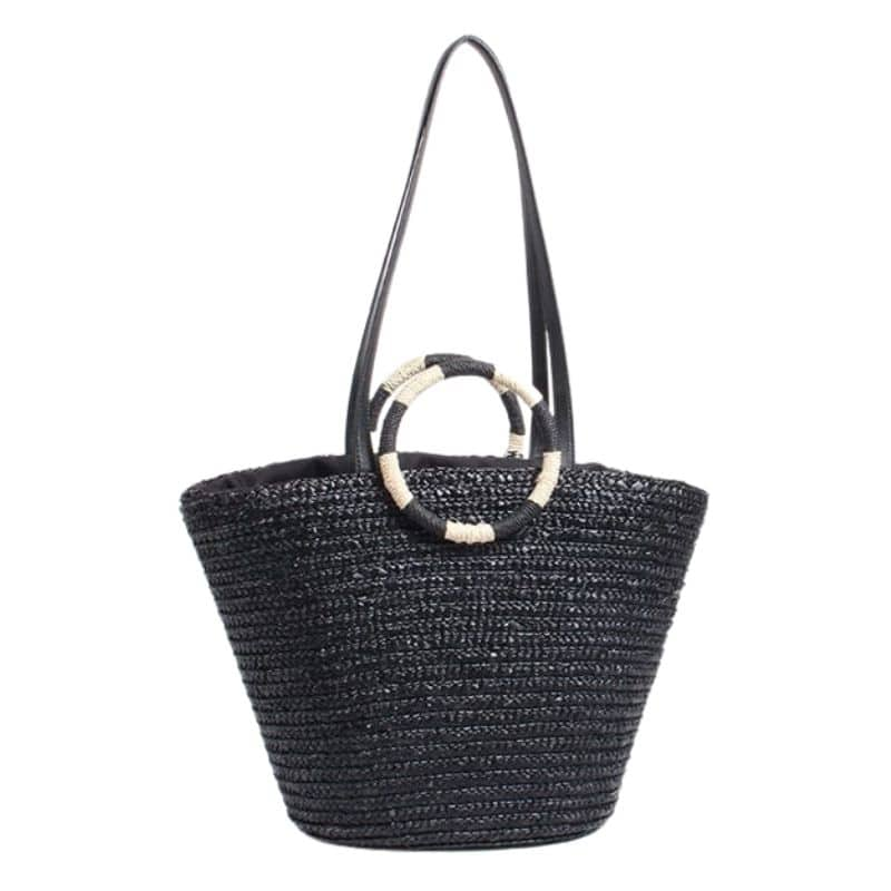 Why shoulder wicker tote bag