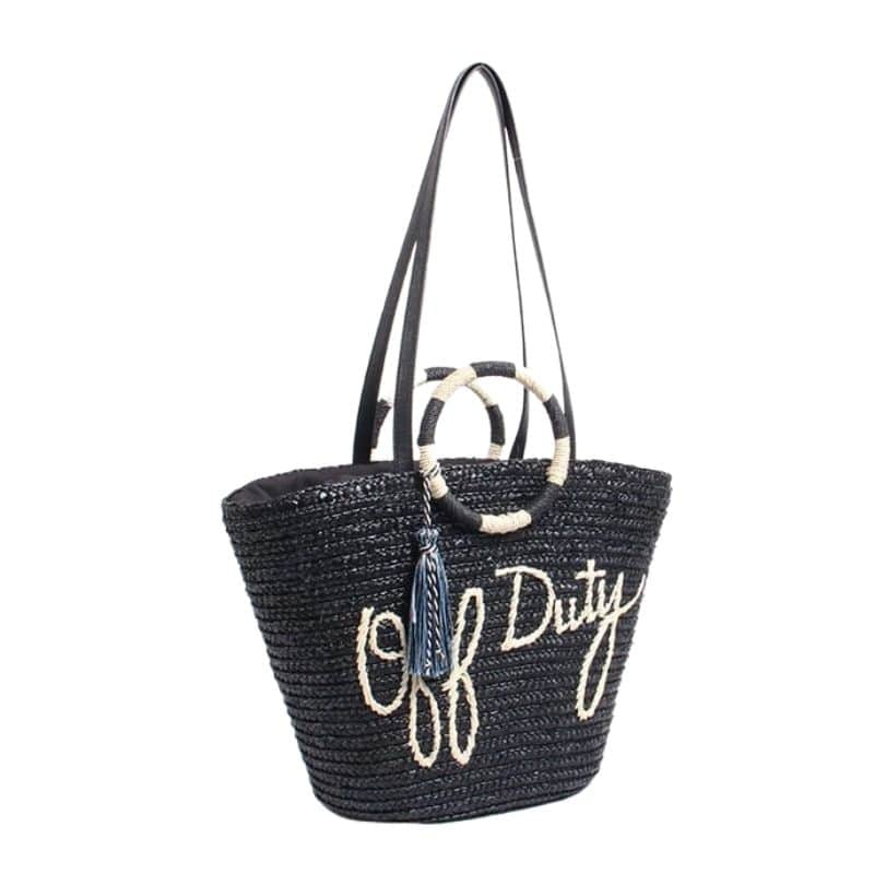 Which metal large straw beach bag