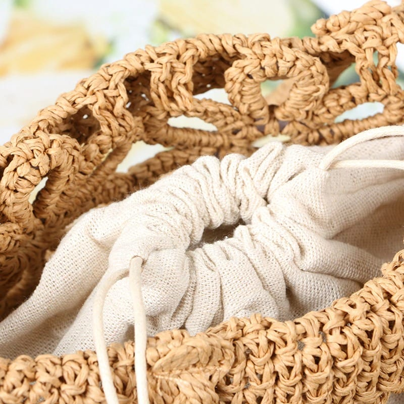 How long straw hobo bags rattan value
