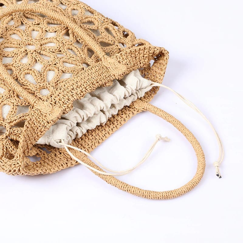 Mango designer straw bag