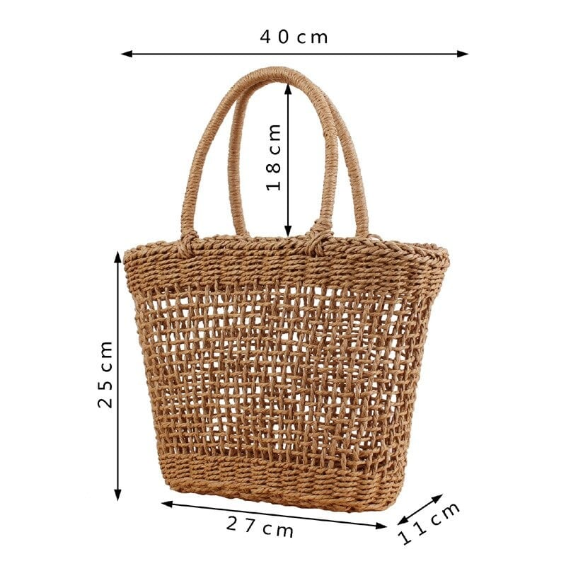 How hard wicker purse
