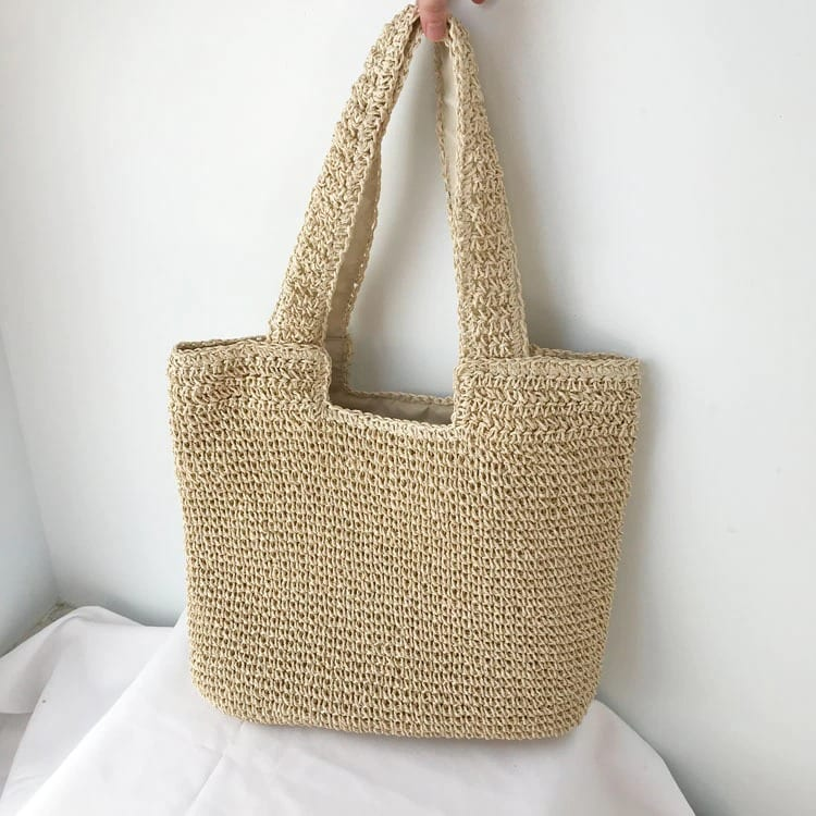 How much circular straw tote beach bag suggest