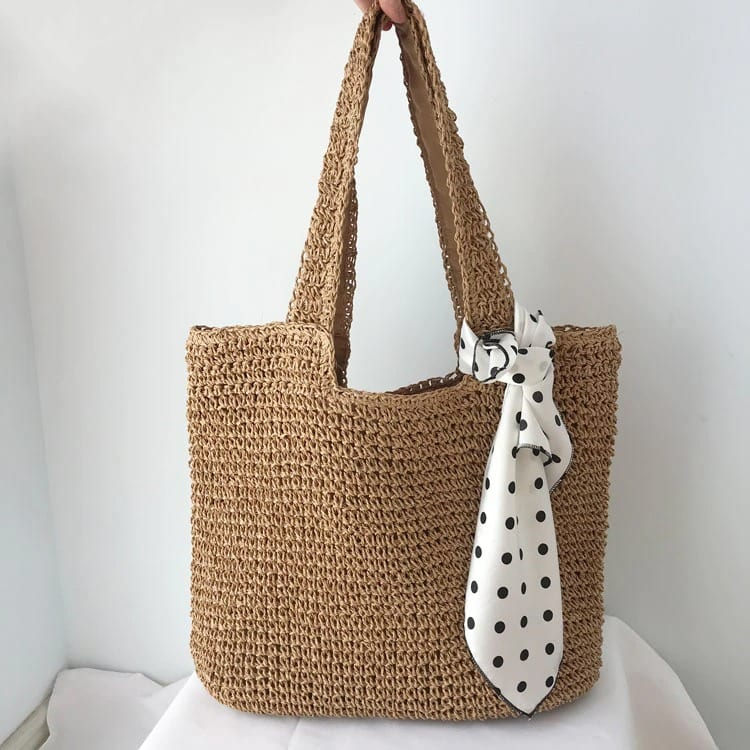 When half moon wicker beach bag 2021